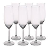 6dílná sada sklenic na sekt Brylant, 210 ml