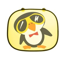 Parasolar Pinguin, galben, 2 buc.