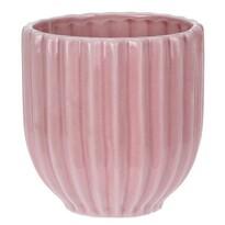 Doniczka ceramiczna Stripes, różowy