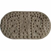 Masážna protišmyková podložka do kúpeľne s magnetmi hnedá, 70 x 39 cm