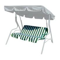 Poduszki na huśtawkę ogrodową Stripy, zielone paski