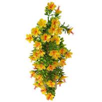 Sztuczny kwiat Hibiskus pomarańczowy, 40 cm