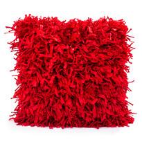 Shaggy párnahuzat piros, 45 x 45 cm