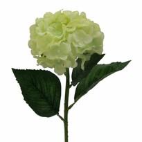 Umelá kvetina Hortenzia, svetlozelená