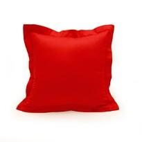 Obliečka na vankúšik s lemom satén červená