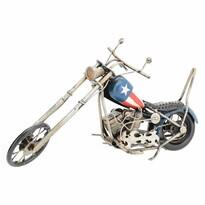 Dekoracja model motocyklu Chopper, niebieski