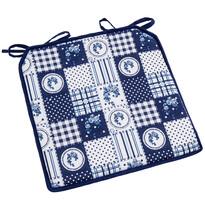 Sedák Elegant patchwork modrá, 40 x 40 cm