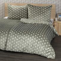 4Home povlečení mikroflanel Stars šedá, 160 x 200 cm, 2x 70 x 80 cm