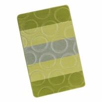 Koupelnová předložka Avangard Kroužky zelená, 60 x 100 cm