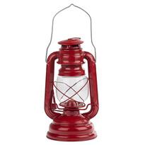 Petrolejový lampáš 25 cm, červená