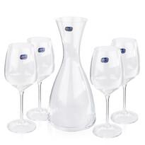 Bohemia Cristal Karafka i 4 kieliszki do wina Gise Giselle, 1200 ml