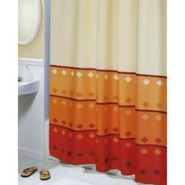 Perdea de duș Figuri geometrice, portocaliu, 180 x 200 cm