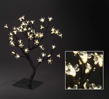 Svíticí LED květinový stromek, 45 cm