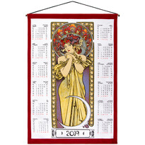 Textilní kalendář Alfons Mucha 2019, 45 x 65 cm