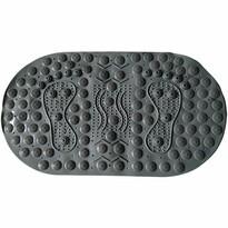 Masážna protišmyková podložka do kúpeľne s magnetmi sivá, 70 x 39 cm