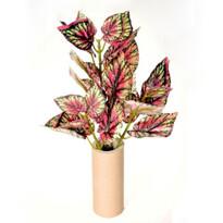 Sztuczny kwiat begonii zielono - czerwona