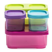 Sada 4 ks plastových dóz s víčky, mix barev