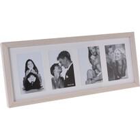 Fotorámeček Memories na 4 fotografie hnědá,52 x 22 x 3,5 cm