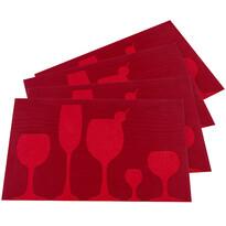 Drink alátét, piros, 30 x 45 cm, 4 db-os készlet