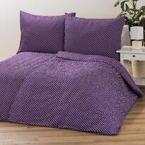 Krepové obliečky Pallas Bodky fialová, 140 x 200 cm, 70 x 90 cm