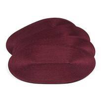 Suport farfurie Deco, oval, burgund, 30 x 45 cm, set 4 buc.