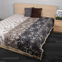 Narzuta na łóżko Alberica szary, 160 x 220 cm