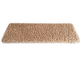 Nášľap na schody Color Shaggy obdĺžnik béžová , 24 x 65 cm