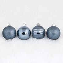 Vánoční koule 10 ks tmavě modrá
