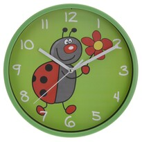 Ceas de perete Ladybird, verde, 23 cm