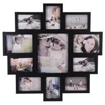 Ramka na 11 zdjęć Family czarny, 61 x 61 x 2 cm