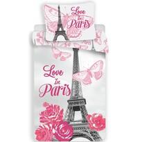 Bavlněné povlečení Paris Flowers, 140 x 200 cm, 70 x 90 cm