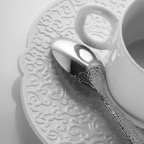 Čajová podšálka Dressed 18,5 cm, biela