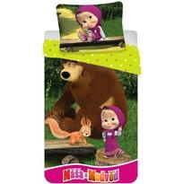 Detské obliečky Máša a Medveď 01, 140 x 200 cm, 70 x 90 cm
