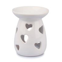 Lampă ceramică aromaterapie Inimă, 12 cm