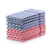 DecoKing Louie konyharuha, kék, piros, 50 x 70 cm, 10 db-os készlet