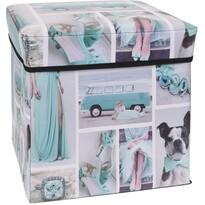 Sienna tároló doboz kék, 30 x 30 x 30 cm