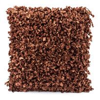 Shaggy párnahuzat barna, 45 x 45 cm