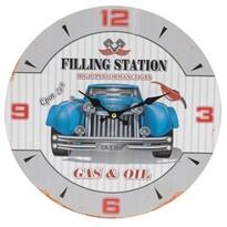 Zegar ścienny Niebieskie auto, śr. 33 cm