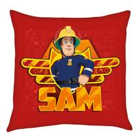 Vankúšik Požiarnik Sam červená, 40 x 40 cm