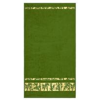 Prosop Bamboo Gold verde închis, 50 x 90 cm