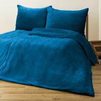 4Home mikroflanel ágyneműhuzat kék, 160 x 200 cm, 2 db 70 x 80 cm