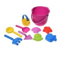 Zestaw plażowy dla dzieci Ocean, 10 szt., różowy