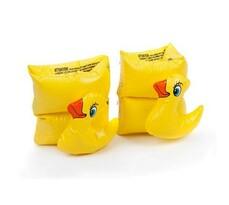 Nafukovacie rukávky FUNNY ANIMALS, žltá, 20 cm