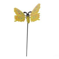 Dekorácia motýlik, žltá