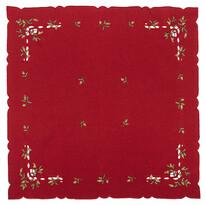 Obrus świąteczny jemioła, czerwony, 85 x 85 cm