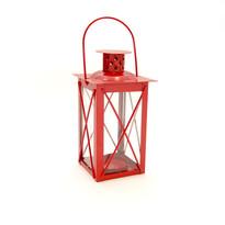 Mini latarnia 14 cm, czerwona