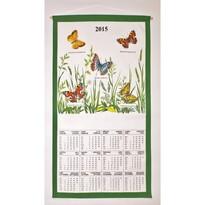 Textilní kalendář 2015 Motýli, 35 x 65 cm