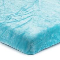 Prestieradlo Mikroplyš modrá, 180 x 200 cm