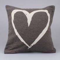 Povlak na polštářek Heart hnědá, 40 x 40 xm