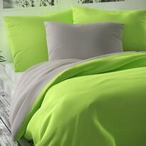 Pościel satynowa Luxury Collection zielony/jasnosz